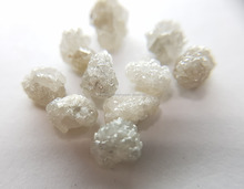 Snow White Rough Mixed Shape Diamonds 1.00 to 1.50 Ct. Each