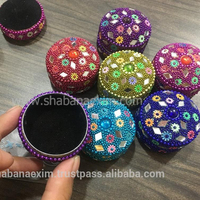 Promotional gift Wholesale trinket box with velvet lining handicraft pill boxes