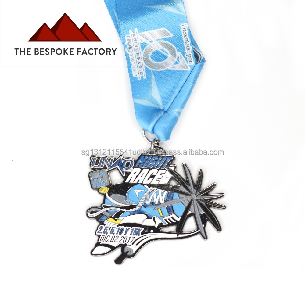 Night Race Soft Enamel Manufacture Custom Medal