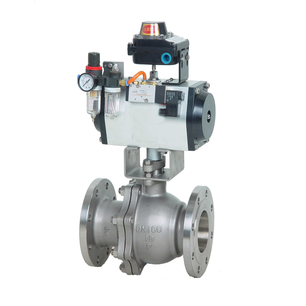 Pneumatic Control 1.5 Inch Ball Valve with Limit Switch