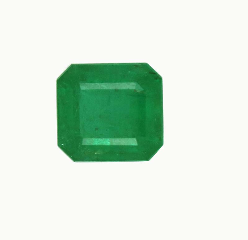 octagon cut loose natural zambian emerald stone price