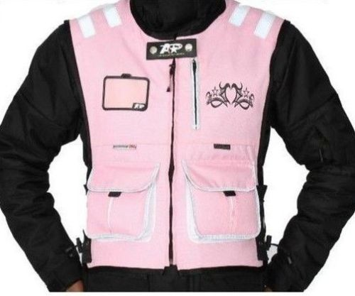 LADIES BABY PINK MOTORCYCLE AND MOTORBIKE HI VIZ VEST