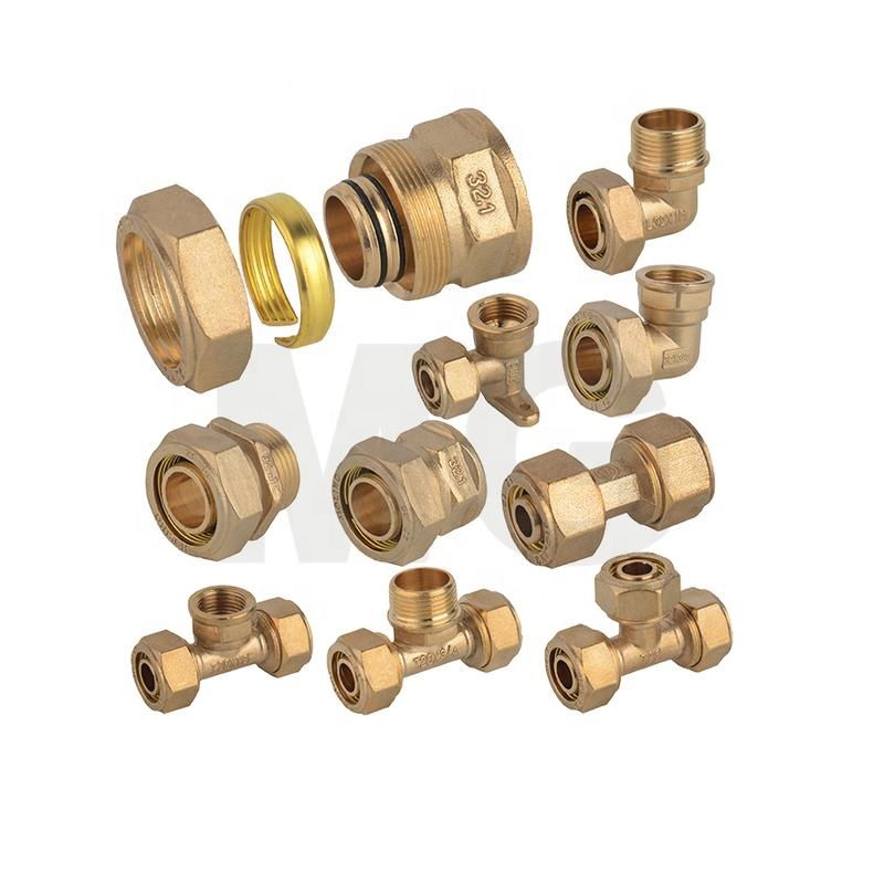 Sleeve Type Brass Pipe <strong>Fitting</strong> for PEX-AL-PEX Natural Gas Pipe 25mm pex <strong>fitting</strong> 90 degree elbow reducing brass <strong>fitting</strong> pipe