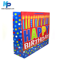 Happy Birthday Candle bag paper bag gift bag shopping with custom printing design for kids