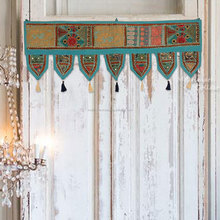 Turquoise Wholesale Bohemian Toran Bedding decor Patchwork Living Room Valances Handmade Wall Hanging