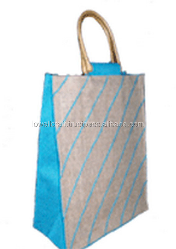 THREAD JUTE DESIGN BAG