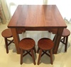100% Authentic Borneo Ironwood Dining Table with Stools SET