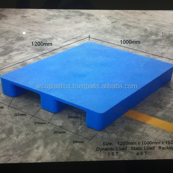Cheap Price Plastic Pallet For Racking Durable Hdpe 1200 x 1000 x 150 mm