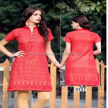 Nice Looking Indian Pakistani Women Fashion Designer Wholesale Cotton Kurtis