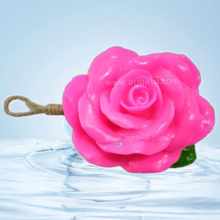 Hot Selling Handmade Pink roses Fruit Soap for Natural Thai Spa