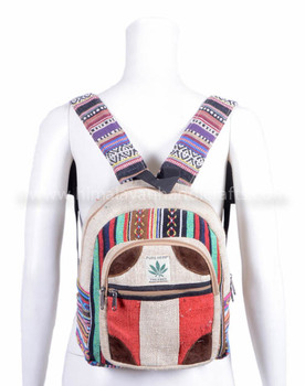 New stylist Small and medium kid and teenagers color full hemp backpack HBBH 0070