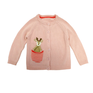 Cosy Knitted Wearing Baby Coats Crochet Design Sweater Cardigan Girl Jacket