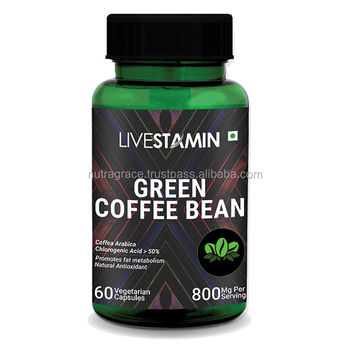 Green Coffee Bean Extract Capsules 400mg Coffea arabica Weight Loss Supplement GMP ISO