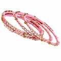Jaipur Mart Gold Plated Pink Color Glass Stone Bangles Set PLKB280-2.6