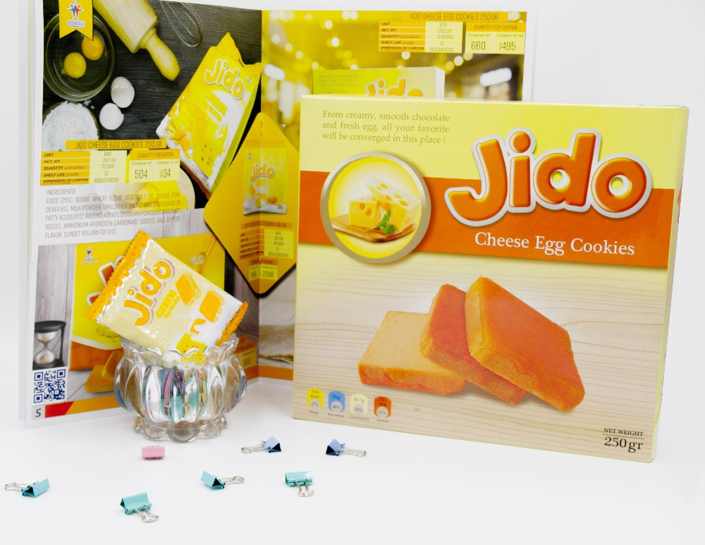 JIDO chesse egg cookies 250gr
