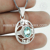 Blue topaz gemstone pendant silver jewelry wholesale 925 sterling silver jewelry pendants
