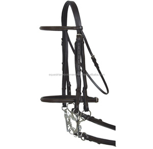 India Made Horse Riding Leather Bridle