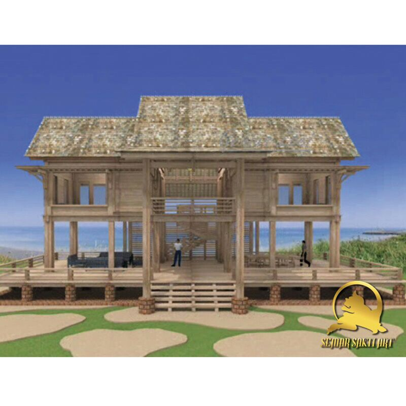 Indonesia Stage Wooden Prefab House - Prefabricated Teak Wood Villa Building for Residences or Gathering