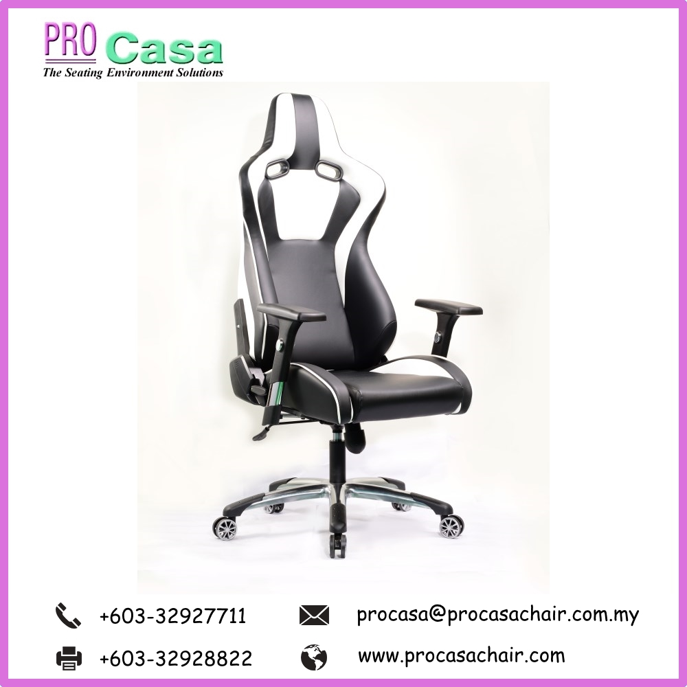 Malaysia Games Racing Chair PRO G-VP-W Pc Gaming Office Chair Furniture