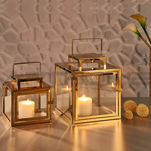 Moroccan metal glass candle lantern