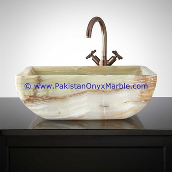 FINE QUALITY GREEN ONYX SINKS AND BASINS