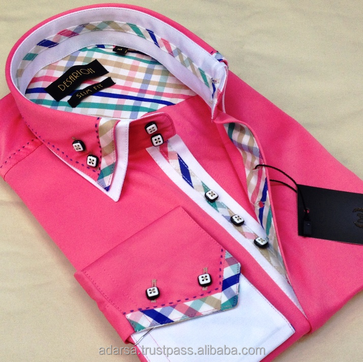Double collar fashion men's shirts (made in Turkey - not CHINA)