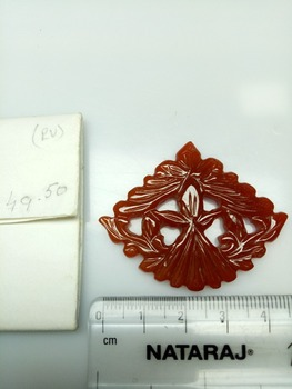 Natural amazing red onyx carving three piece set