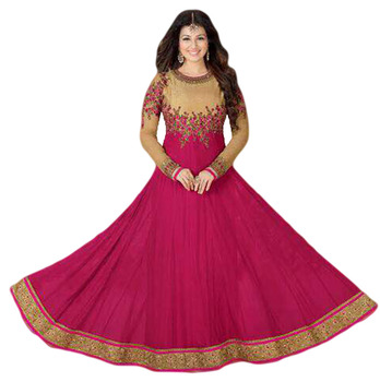 Anarkali Style Georgette Occasion Party Wear Semi Stitched Suits 2017 (anarkali dresses)