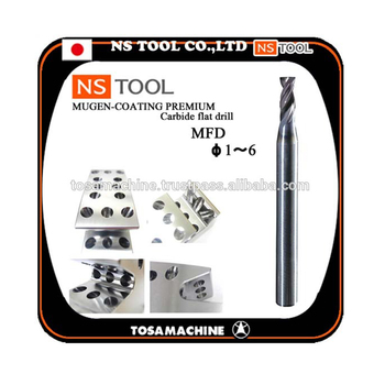 1-6mm NS TOOL MFD Carbide flat drill for precision machining