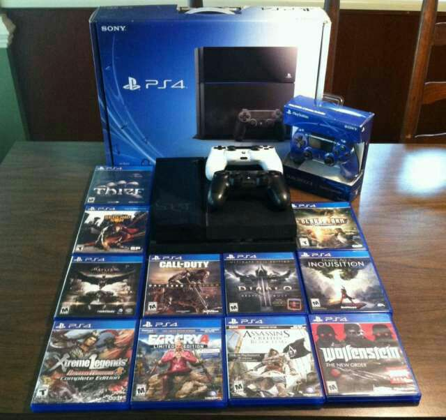 Wholesale For Play station 4 PRO/Slim PS4 1TB Console,10 GAMES & 2 Controllers-Freeshipping-