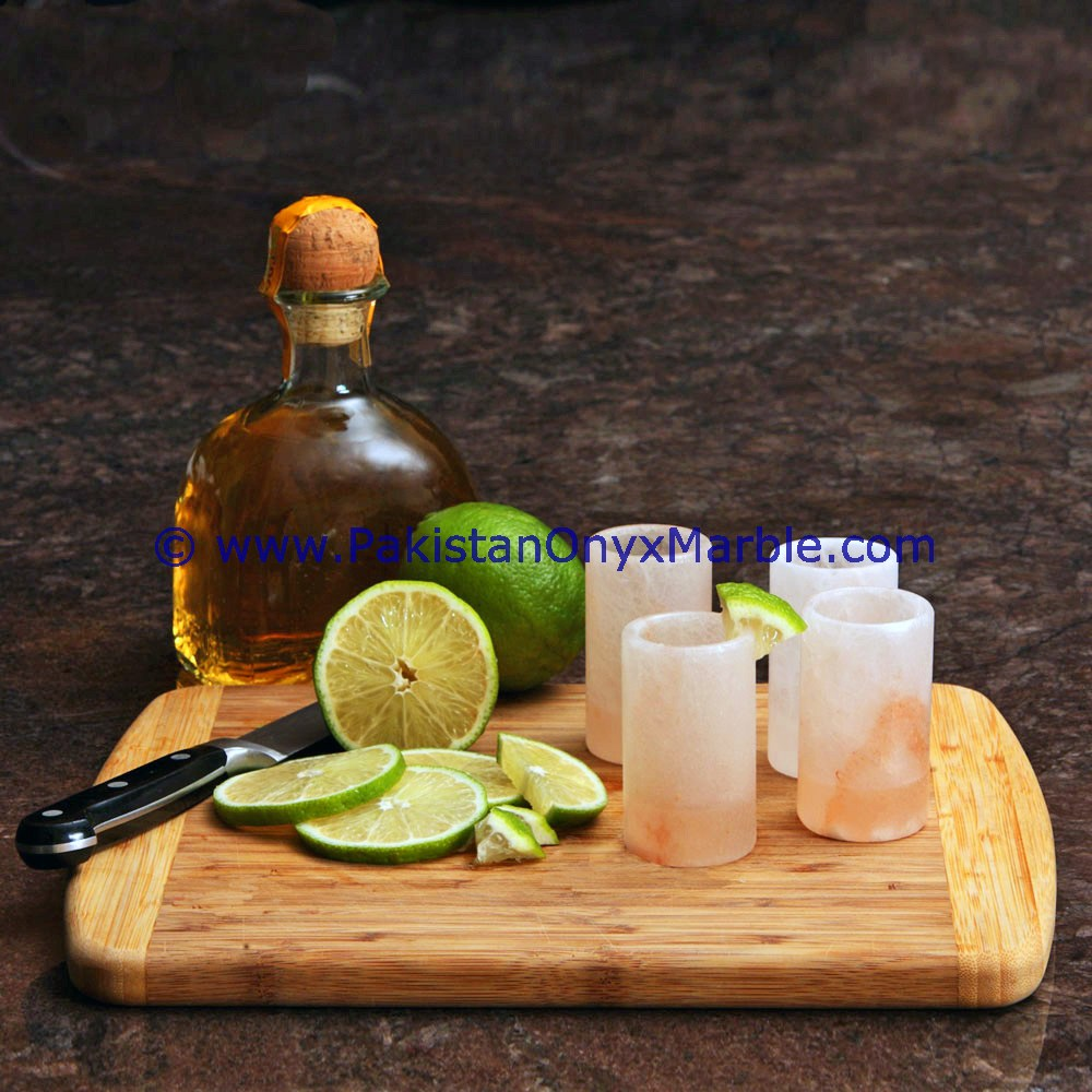 Custom food grade Tequila himalayan salt shot glasses cups handcrafted drinking glass tequila shot glasses