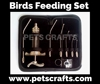 New stainless steel animal bird feeding needle set