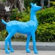 2019 new design resin craft animal deer fiberglass statue