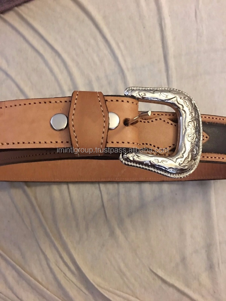 WESTERN COWBOY LEATHER MEN BELT In Brand New style