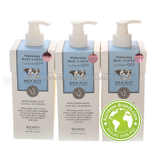 400ML BEAUTY BUFFET SCENTIO MILK PLUS WHITENING CO-ENZYME Q10 BODY LOTION