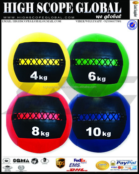 "Medicine Ball Training Gym Fitness Exercise Boxing MMA Soft Wall Ball Leather 14"" Diameter"