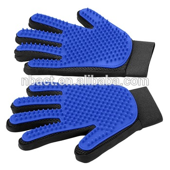 Authentic and Original Hair Remover Pet Grooming Glove with Five Fingers, Pet Deshedding cleaning Brush glove