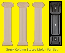 Full Set Greek,Roman Column Pillar mold,Plaster/Concrete,Stucco Moulding, decor