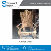 Antique Carved Living Room Wooden Chair at Low Price