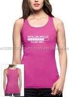 Ladies Pink Top Custom Running Tops