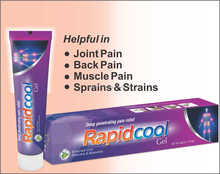 Natural Rapidcool External Use Muscle And Joints Pain Rapid Relief Massage cream/gel/ointment with 50g