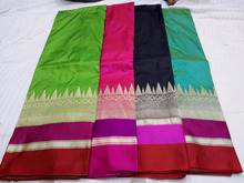 Pure handloom katan silk saree with blouse