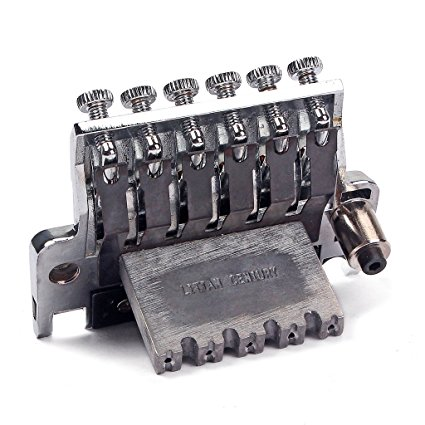 Electric Guitar Tremolo Bridge Double Locking Assembly System Chrome