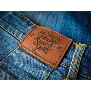 Garment Labels Leather or PU Labels with logo or stamped design
