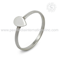 High frequency plain silver ring 925 silver ring wholesale sterling silver jewelry