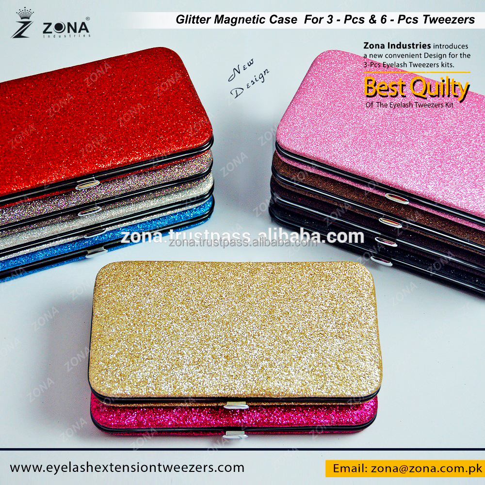 Eyelash Extension Tweezers Glitter Case / Get Magnet Case With Your Brand Name