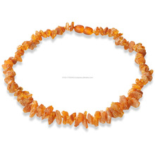 Baltic Amber Pet Collar AC series for Dogs and Cats with Raw Style Beads Finish from The Real Natural Baltic Amber