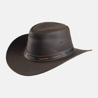 Smooth Western Leather Cowboy Hat