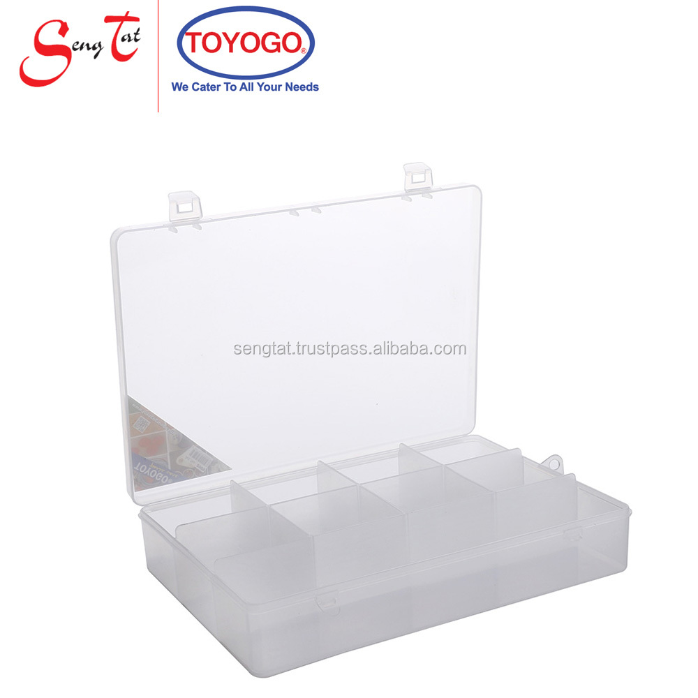 Strong and Durable Industrial Storage Case with 8 similarly sized and 1 big sized compartment and small handles (2909)