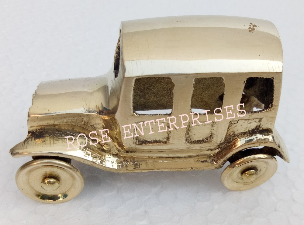 Nautical Vintage Style Home Decor Brass Jeep Model Car \ Brass Taxi \ Gifted Item